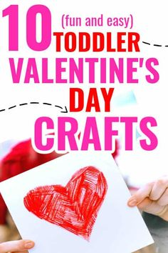 Adorable Valentine's Day Crafts For Toddlers! Fun fine motor Valentine art project ideas your toddler will love! #Valentinesday #toddlercrafts #toddlerart #toddleractivities #preschool