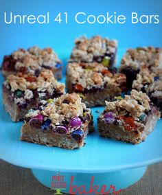 Unreal 41 Cookie Bars - Pint Sized Baker