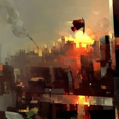 annihilation by betteo on DeviantArt Environment Painting, Environment Concept, Painting Inspiration, Art Inspo, Graphic Artwork, Landscape Photos, Medium Art, Cool Art, Anime Art