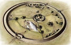 Recostruction of Bloodgate Hill, Iron Age Fort, South Creake, Norfolk, #Woad novel inspiration.