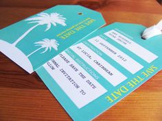 PRINTABLE ANY COLOUR Save The Date Overseas Abroad Wedding Invitation Luggage Tags GBP1000 Via Etsy