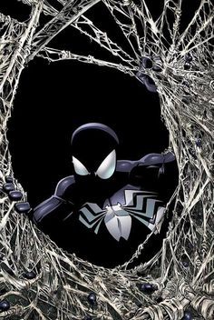 Black Suited Spider-Man Wizard Cover By Humbero Ramos Comic Art Spiderman Black Suit, Black Spiderman, Spiderman Art, Amazing Spiderman, Spiderman Tattoo, Marvel Comics, Marvel Venom, Marvel Art, Marvel Heroes