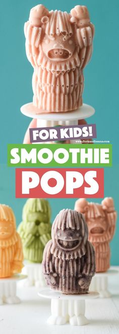 Cool down for the summer by making your kids these easy and healthy kid friendly Smoothie Pops. Made with 3 ingredients, they are a healthy alternative to store-bought popsicles.