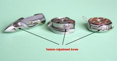Singer 301: adjust bobbin tension first, then upper thread tension. This page shows how to make adjustments.