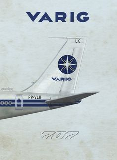VARIG Airlines 707, by Rick Aero www.Facebook.com/VintageAirliners www.VintageAirliners.com