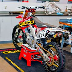 Eli Tomac's Geico Honda race bike