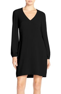 Charles Henry Crepe A-Line Dress available at #Nordstrom