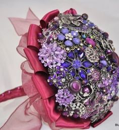 Sangria Brooch Bouquet