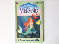 Vintage Walt Disney's The Little Mermaid Ladybird Book, First Edition, Gloss Hardback, early 1990s, 00367