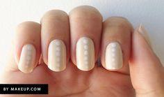 25 Eye-Catching Minimalist Nail Art Designs minimalist nail art, polka dots, dot manicur, nail art designs, neutral dot, nail arts, beauti, nail design, polka dot nails
