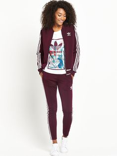 adidas Originals Superstar Track Pants - Maroon An iconic design is given a  fresh coat of