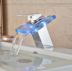 The LEDs will glow in various colors and add more decor and style to your bathroom.