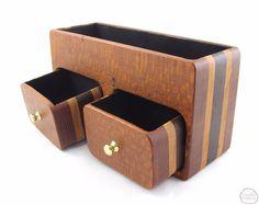 Leopardwood valet bandsaw box - One of a kind