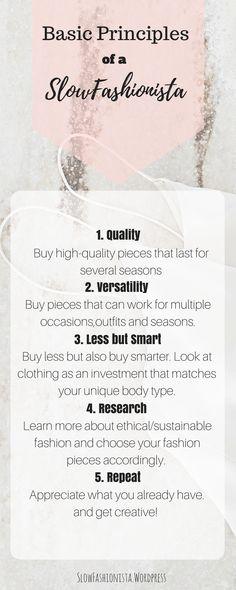 Basic Principles of a slow-fashionista Slow Fashion, Ethical Fashion, High Fashion, Sustainable Fashion, Fashion Outfits, Blog, Couture, Fashion Suits, High Fashion Photography