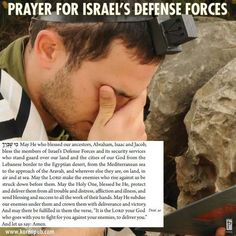 Prayer for Israel and its enemies
