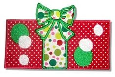Christmas present applique   ... BOUTIQUE Christmas Designs and Fabric: Christmas Applique Designs