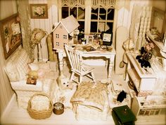 """"""" Let the beauty we love, be what we do"""" ~Rumi   Dollhouse room by Kim Saulter"""