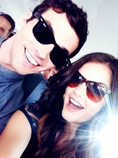 lucy hale behind the scenes of pll photos | pretty little liars # aria and ezra # lucy hale # ian harding