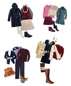 Wardrobe has been updated with items that were in stock or more affordable and supplemented with outerwear in case it is cold that day.  Fall Photos 2015 by heather-mcduffy-tristan on Polyvore featuring Lands' End and J.Crew