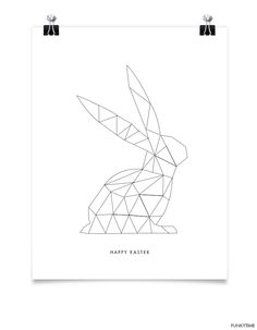 Geometric Easter Bunny Greeting Card OR geometric wall art for Easter and Spring 2014 #SPRING2014 #Easter2014 #DIY2try also, we might add color or texture with some clay etc .. Also, let the children use their anagrams or shape pieces to cover. I blew ours up big for that purpose (& another but that I'll save for my blog!!) ;)