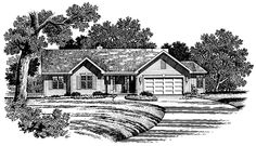 Country House Plan with 1692 Square Feet and 3 Bedrooms(s) from Dream Home Source | House Plan Code DHSW54100