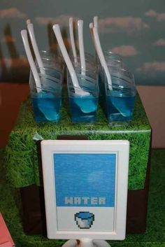 "...as well as ""water"" (which tastes so much better when it's blue). 