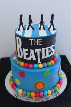 The Beatles Abbey Road cake