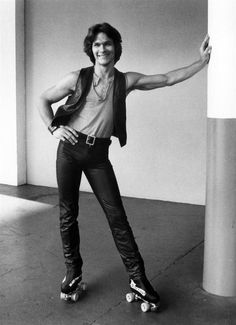 the beautiful Patrick Swayze on roller skates... I honestly just teared up a bit looking at this picture.