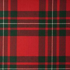 MACGREGOR RED (Modern) GL012 100% Wool 10.5oz Tartan. Woven in Yorkshire by Marton Mills. Wool Fabric, Design Show, Yorkshire, Tartan, Swatch, Weaving, Pure Products, Quilts, Modern