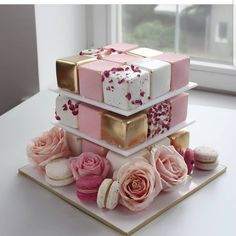 """a3a25614e122 AmourDuCake on Instagram  """"Yes or no   Pink rubic cake chic by  nivskaya  Her rubik cake is so beautiful"""