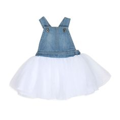 TheFox & Finch Baby Madison Denim Tulle overallis simply…