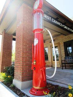 Vintage Gas Pump, Herm's Inn, Logan, Utah