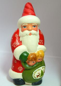 Chalkware Santa from antique chocolate mold, available now at www.bittersweethouse.com