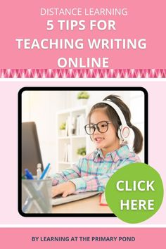 Teaching writing online can be difficult. But it can also be fun and effective! Keep reading to learn 5 helpful tips for teaching writing online to Kindergarten, 1st grade, and 2nd grade students! (There's a freebie waiting for you, too!) Writing Lessons, Writing Resources, Teaching Writing, Writing Practice, Writing Ideas, Write Online, Writing Workshop, Phonics, Helpful Tips