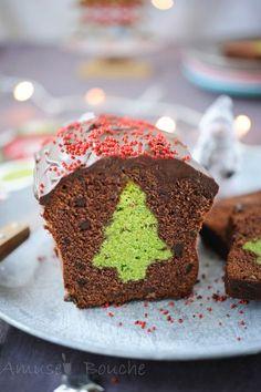 cake surprise de noel, chocolat pistache