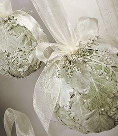 Dusty Miller, Silver Sage (?) Kissing Balls- Mobtown Florals