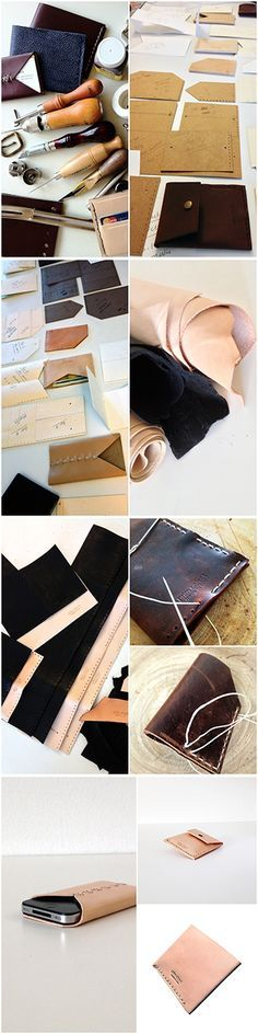 Steps to make leather wallet