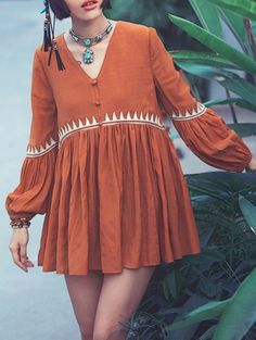SHARE & Get it FREE | Bubble Sleeve Babydoll DressFor Fashion Lovers only:80,000+ Items • New Arrivals Daily Join Zaful: Get YOUR $50 NOW!