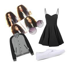 """""""Curly Hair Look"""" by thamires-2110 on Polyvore featuring Glamorous, L.L.Bean, Vans and Monki"""