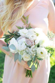 Pastel rose and ranunculus wedding bouquet. | Weddings | Flowers | Wedding Bouquets | #flowers #weddingdecor #weddings #bouquet | www.laurenlashdesigns.com