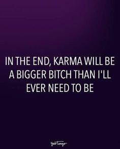 On letting karma handle it.