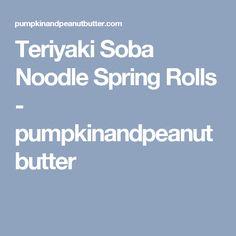 Teriyaki Soba Noodle Spring Rolls - pumpkinandpeanutbutter