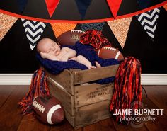 Yeah, one day this is so going to happen to my child...Auburn Football Newborn Photography.