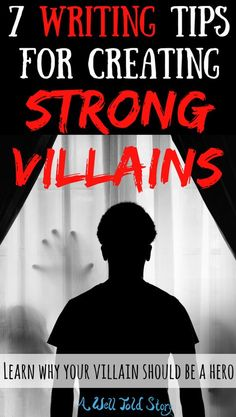 Creating a good villain or bad guy can be a key element in telling a compelling story. But what exactly makes for a high-quality villain? Here are seven tips to help you go beyond the mustache-twirling cardboard cut out. Creative Writing Tips, Book Writing Tips, Writing Process, Writing Quotes, Writing Resources, Writing Help, Writing Skills, Writing Ideas, Writing Fantasy