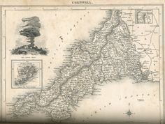 "CORNWALL (1830) | from ""Devonshire and Cornwall Illustrated""     ✫ღ⊰n"