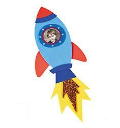 Rocket Ship Photo Picture Frame Magnet Craft Kit for Kids Boys No Glue! BCraft in Craft Kits | eBay