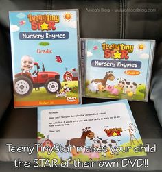 JUST POSTED - these TeenyTinyStar​ Personalized Kids Nursery Rhyme DVD's are FANTASTIC!!  Learn all about them and enter to WIN one for your child!!  They'll LOVE it!!  http://africasblog.com/2016/08/08/teenytinystar-review-giveaway/