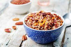 Красный и белый рис с тыквой и пеканом