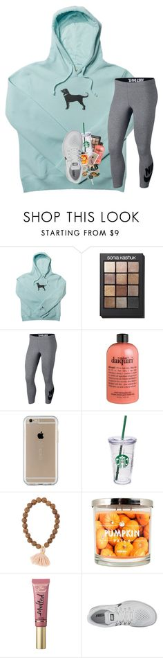 """""""please rtd and pray🙏🏼"""" by prepstergab ❤ liked on Polyvore featuring Sonia Kashuk, NIKE, philosophy, Speck, Starbucks, SONOMA Goods for Life, Too Faced Cosmetics and Madewell"""