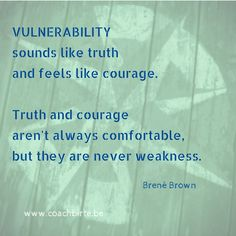 Kwetsbaarheid, niet te verwarren met zwakheid.